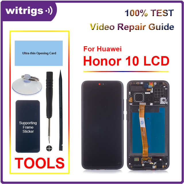 For Huawei Honor 10 LCD Display Touch Screen Digitizer Assembly With Fingerprint For Honor10 Witrigs