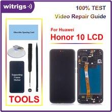 עבור Huawei Honor 10 LCD תצוגת מסך מגע Digitizer הרכבה עם טביעת אצבע עבור Honor10 Witrigs