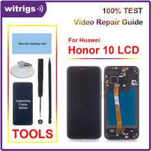 Pour Huawei Honor 10 LCD écran tactile numériseur assemblée avec empreinte digitale pour Honor10 Witrigs