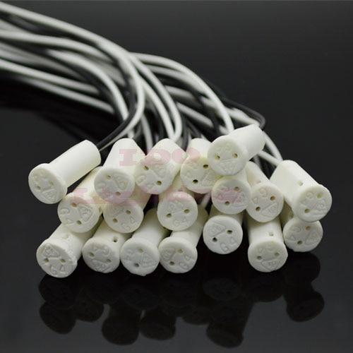 G4 Base Socket plug 30CM Crystal bulb light special ceramic lamp Chandelier halogen Holder Head Wire Connector lighting accessor