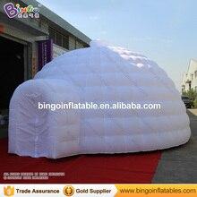 Белая надувная иглу купольная палатка распродажа, нейлоновый ремень материал 6X6X3,5 метров взрывая юрта Игрушка палатки