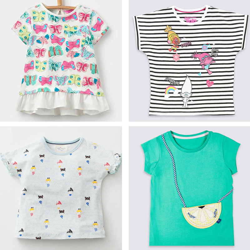 New 2018 Brand Quality 100% Cotton Baby Girls t shirt Short Sleeve Kids Clothes Summer Tee T-Shirt Baby Girls Clothing Outerwear girls 100