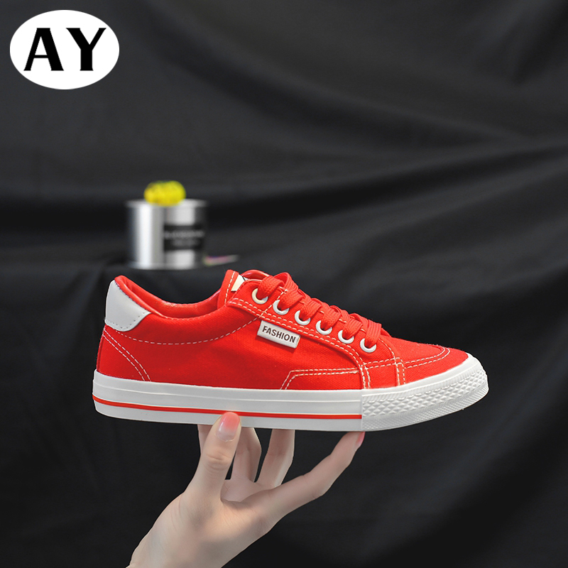 Free Shipping AY Vulcanized Shoes Women Canvas Sneakers Flat Denim Casual Shoes Women Trainers Stars Ladies Sneakers Rubber Sole