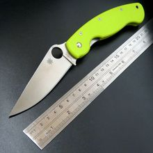 High Quality Hand Tool C36 Folding Knife 9Cr Blade G10 Handle Camping Knives Tactical Survival font