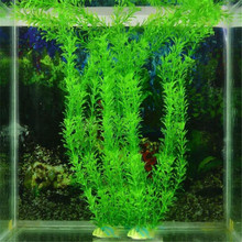 Nice design 32cm Plastic ornament aquarium plants fish tank artificial man made fish bowl water grass fish weeds for decoration