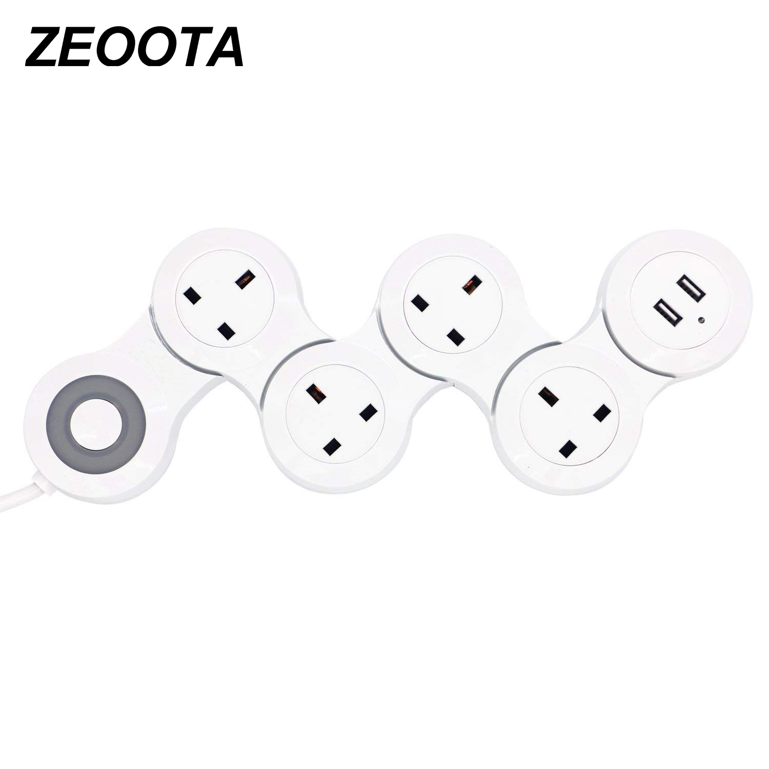 Travel Power Strip Usb Outlets Socket With Usb Indicator
