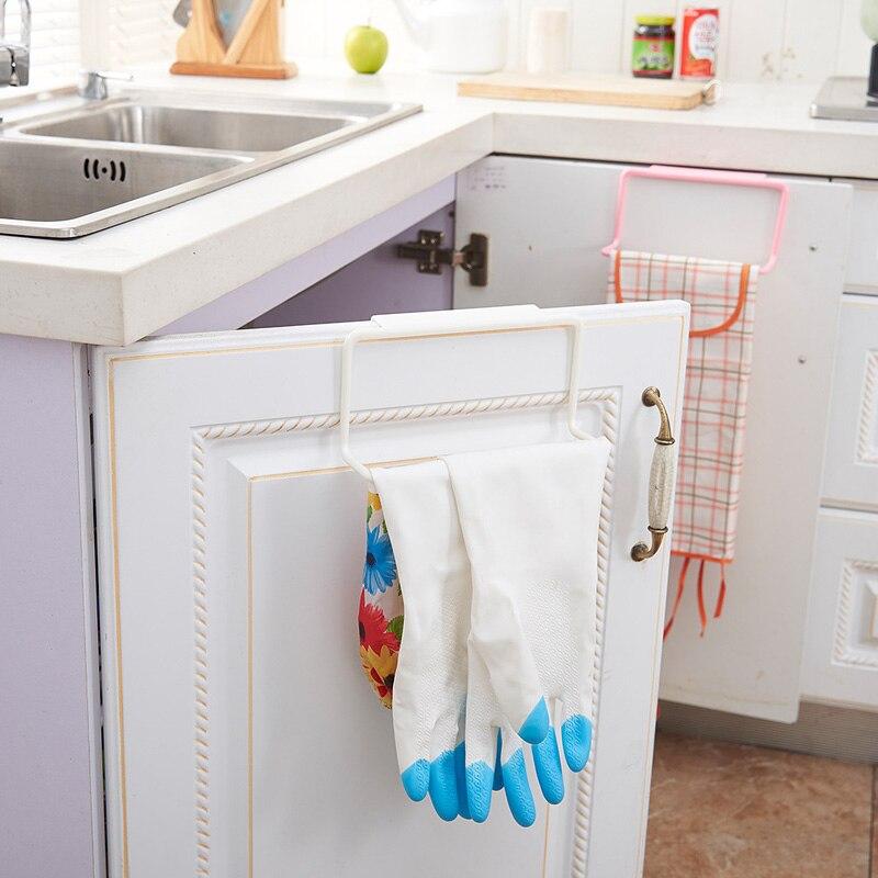 New Bathroom Kitchen Towel Rack Cabinet Door Back Hanging