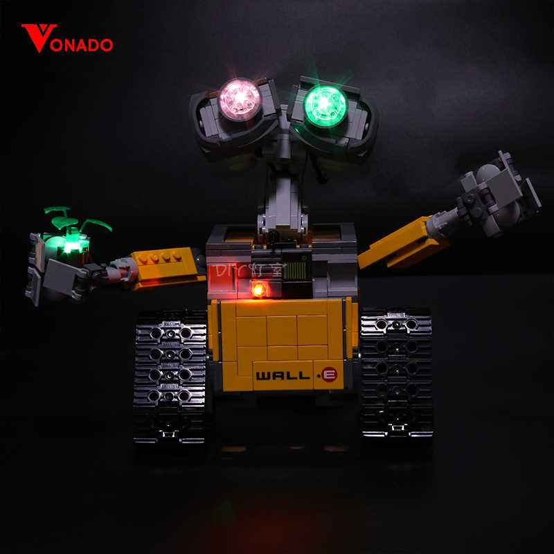 Led Light For Lego 21303 Compatible 16003 Idea Robot WALL E Eyes Flashing Light Building Blocks Toys (only light+Battery box)
