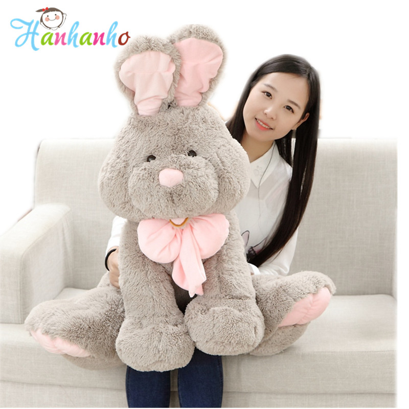 Big Bunny Stuffed Toy PP Cotton Plush Rabbit Doll Children Christmas Gift Giant Animal 70cm bookfong 1pc 35cm simulation horse plush toy stuffed animal horse doll prop toys great gift for children