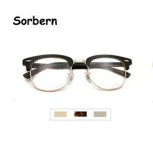 Brand Designer Optical Frame Glasses Men Eyeglasses Semi-Rimless Eyeglass Vintage Round Eyewear Frames Women Occhiali