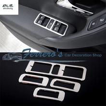 4 шт./лот, наклейки для автомобиля, нержавеющая сталь, стекло, окно, подъемная панель, украшение для 2011- Volkswagen VW POLO