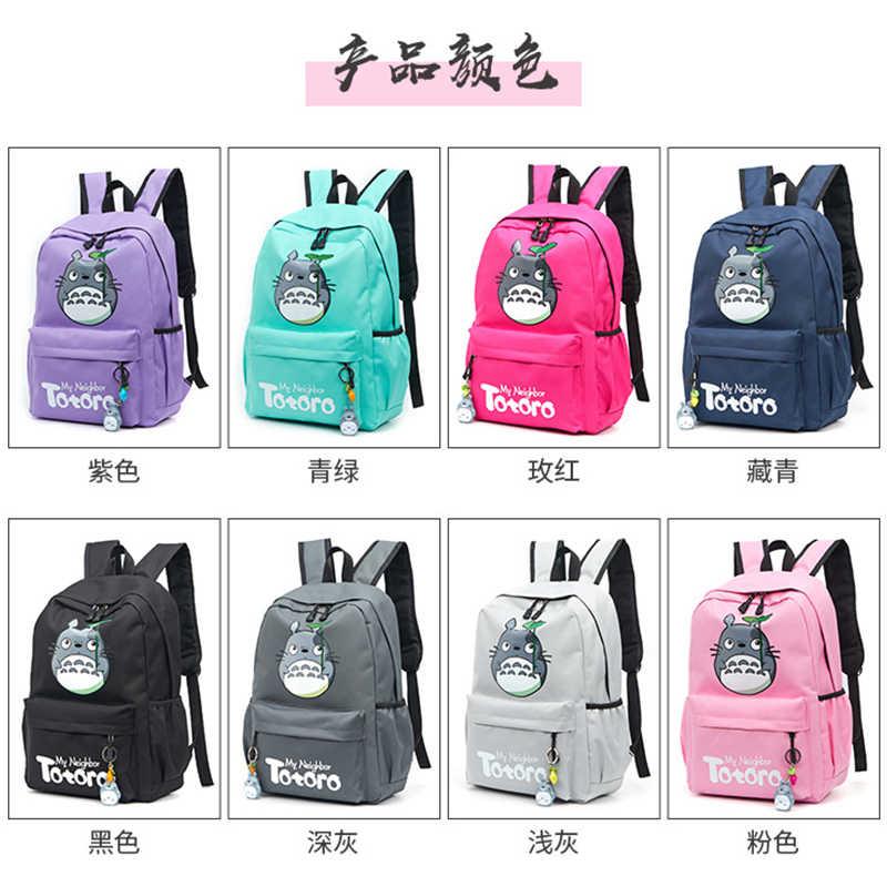 Аниме мультфильм школьные рюкзаки для девочек подростков рюкзак женская сумка школьная однотонная нейлоновая большая Повседневная Подростковая школьная сумка черный 2019 Новинка