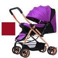 Carrinho de bebê portátil, 4 cores quatro rodas único assento