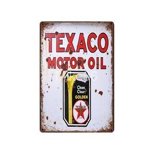 Image 3 - [ Mike86 ] Motor oil TEXACO ESSO  Tin Sign Vintage Hotel Pub Retro Mural Iron Painting art Poster Art 20*30 CM LT 1730