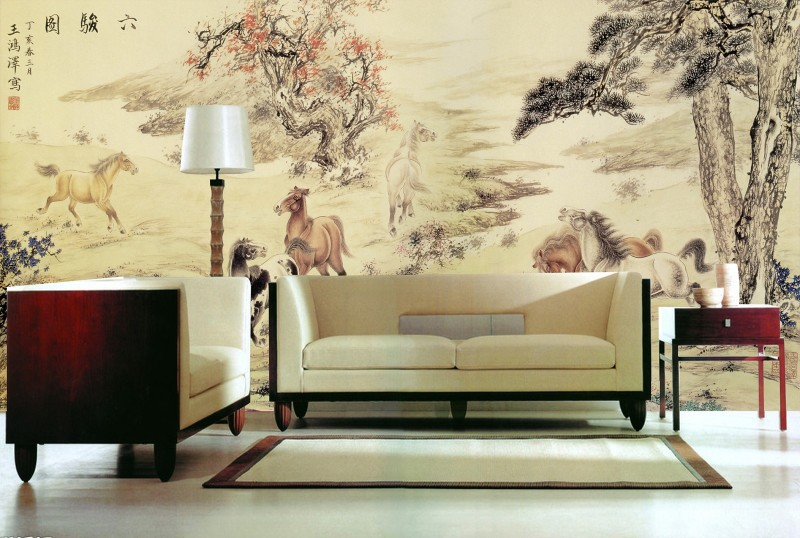 3d wall paper Large background mural Green forest oi painting style 3d papel de parede Bestyle Chinese paint design 3d wallpaper snow background wall papel de parede restaurant clubs ktv bar wall paper roll new design texture special style house decoration