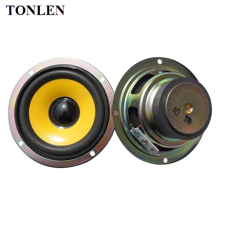 TONLEN 2PCS 3 inch Full Range Speaker 4ohm 5W Mini Stereo Speakers Round DIY Portable Audio for Bluetooth
