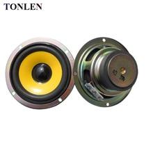 TONLEN 2PCS 3 inch Full Range Speaker 4ohm 5W Mini Stereo Speakers Round DIY Portable Audio Speakers for Bluetooth Speaker недорого