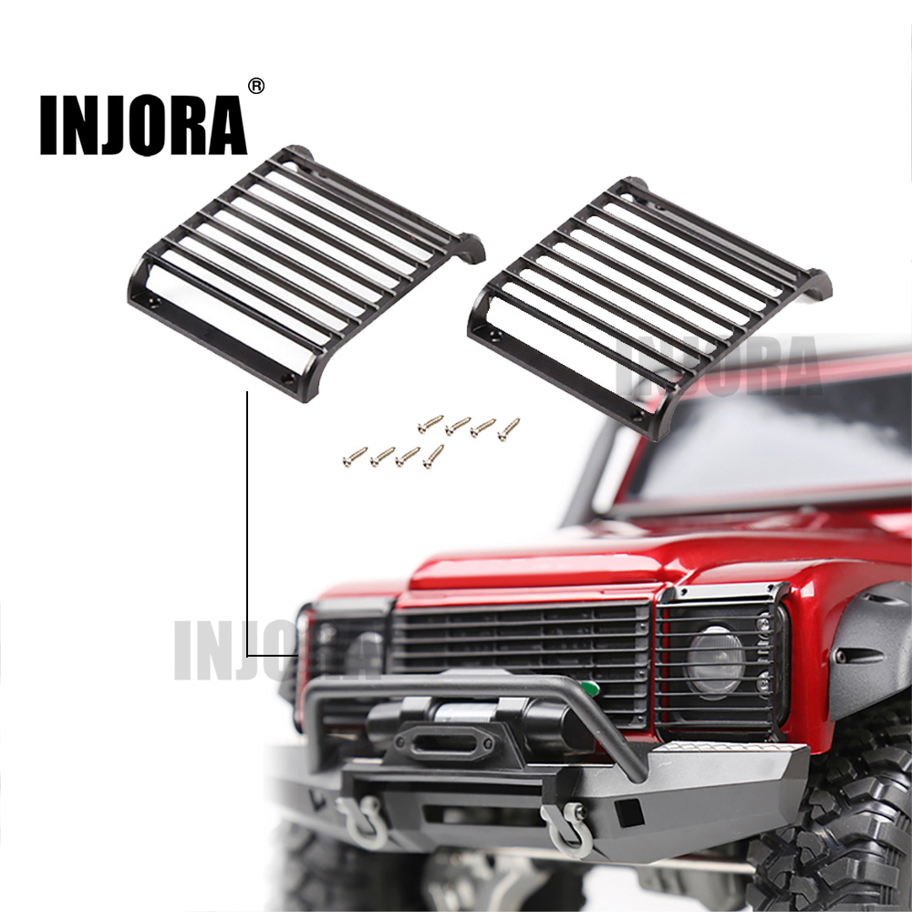 2Pcs TRX4 Metal Front Lamp Guards Headlight Cover Guard Grille For 1/10 RC Crawler Car Traxxas TRX-4