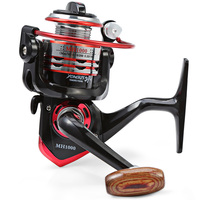 MH 2000 Mental Spool Foldable Fishing Spinning Reel 11 Ball Bearings 5 1 1 With Wooden