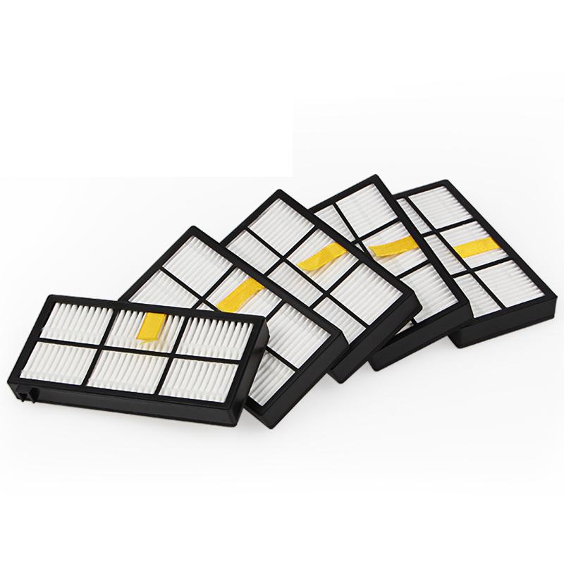 5pcs hepa filter for iRobot Roomba 980 iRobot Roomba 880 800 870 960 Vacuum Cleaner parts Accessories vacuum filter for Robots
