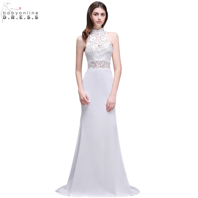 In Stock Size 8 14 16 2018 Sheer Lace Mermaid Boho Wedding Dress ...