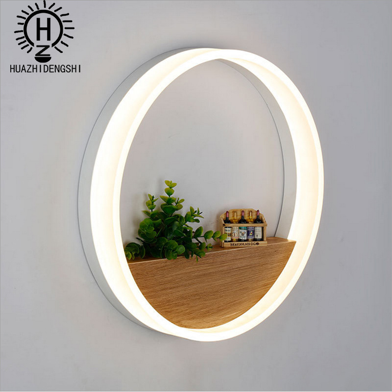 Modern simple bedside wall lamp bedroom wall corridor acrylic LED round indoor background wall decorative lamp modern minimalist acrylic wall lamps smd led creative circle wall lights bedroom bedside lighting corridor balcony stairs lamp