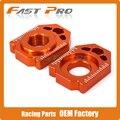 CNC Cadeia Adjuster Eixo Traseiro do Bloco Para KTM SX EXC XC SX-F XC-F XC-W XCF-W EXC-F EXC250 85 125 150 300 350 450 530 SX85 EXC300