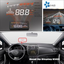 Car HUD Head Up Display For Renault Duster Dacia Duster - Saft Driving Screen Projector Refkecting Windshield