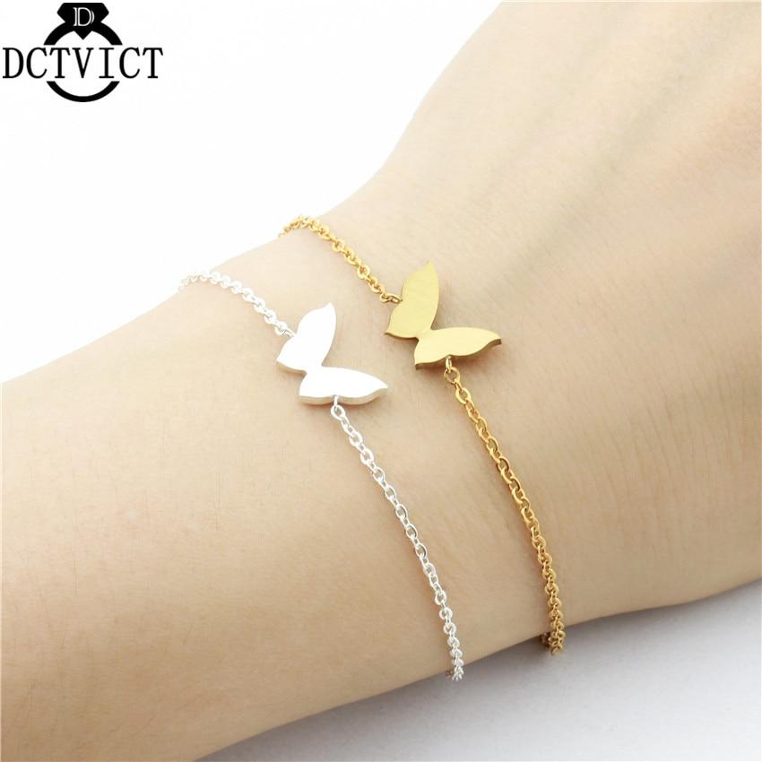 DCTVICT 10pcs/lot Cute Beautiful Butterfly Charm Bracelets ...