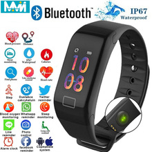 F1 Plus Smart Bracelet Heart Rate Color Screen Blood Pressure Fitness Sport Tracker Monitor Band