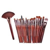 20pcs Eye Makeup Brushes Set Eyeshadow Blending Foundation Lip Brush 1x Makeup Large Fan Brush 1pcs