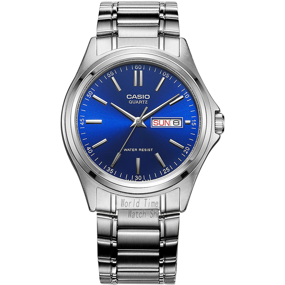 ФОТО Casio watch Men's waterproof watch pointer fashion business quartz men's watch MTP-1239D-2A MTP-1239D-7A