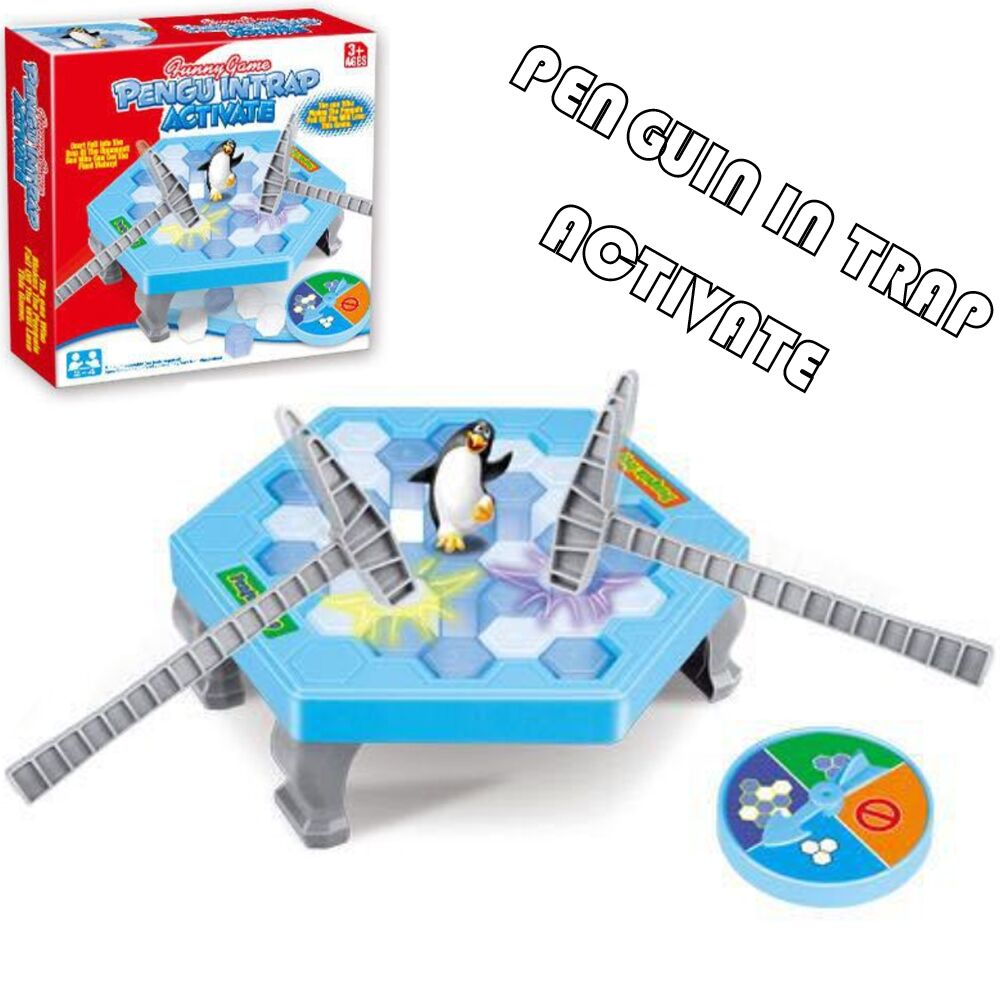 Ice Breaking Gem Penguin Party Supplies Penguin Trap Board Spil Familie Kids Early Educational Legetøj Børn Fødselsdag Gave