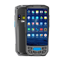 SM DT50 Warehouse Portable Rugged WIFI 4G UHF Mobile 2D Barcode Scanner Handheld Android PDA with Built in Thermal Printer