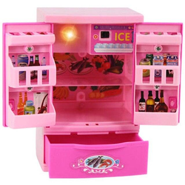 Kinder Kunststoff Küche Haus Pretend Play rosa Kühlschrank spielzeug ...