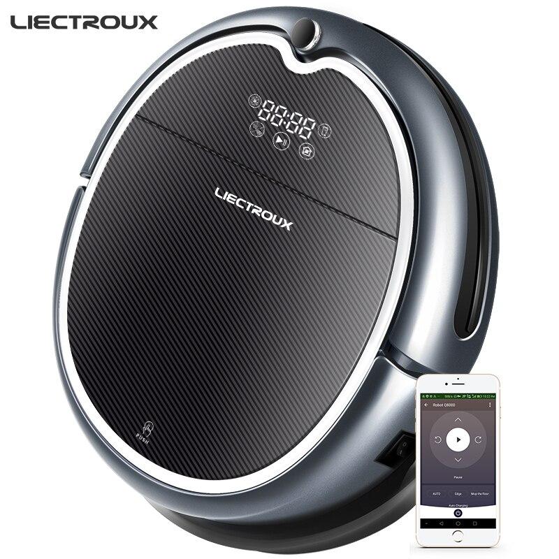 (Nouvelle Arrivée) LIECTROUX Robot Aspirateur Q8000, WiFi App, Carte de Navigation, Smart Mémoire, UV Stériliser, Humide Sec Vadrouille, Aspiration 3KPa