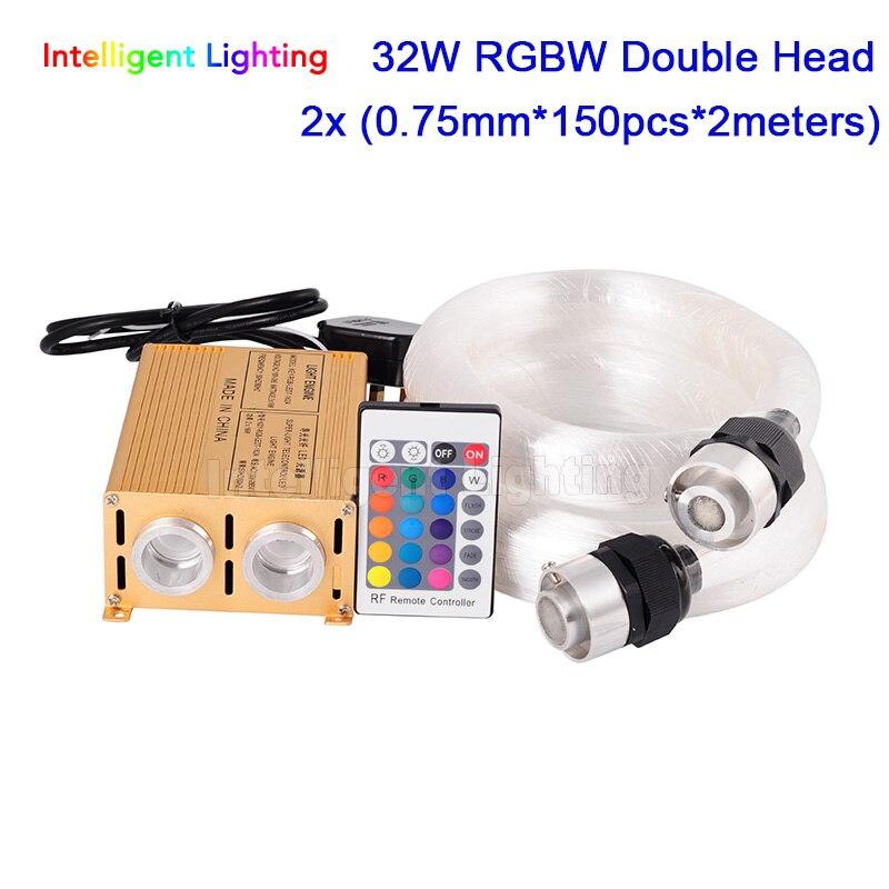 32W RGBW 24key RF Double Head light Engine+ 2x (0.75mm*150pcs*2m) / 2x (0.75mm*200pcs*2m) LED Fiber optic light32W RGBW 24key RF Double Head light Engine+ 2x (0.75mm*150pcs*2m) / 2x (0.75mm*200pcs*2m) LED Fiber optic light