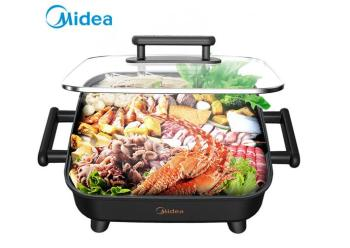Midea Korean style Home Multifunction 6L Hot Pot Frying Machine Electric Stove Cooker Frying Grilled Fish Pan Fry braise stew 1