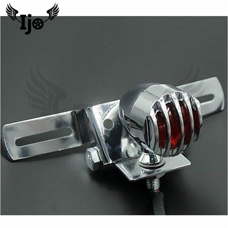 chrome silver metal moto accessories motorbike tail light for honda Kawasaki suzuki yamaha harley lamp motorcycle rear indicator