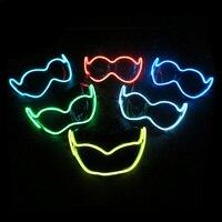 EL Işıltılı Renk Maske Yarım Yüz PVC Parlayan Flaş LED işık Maskesi Masquerade Ball Sahne Cosplay Maske Parti Dekor Hiçbir piller