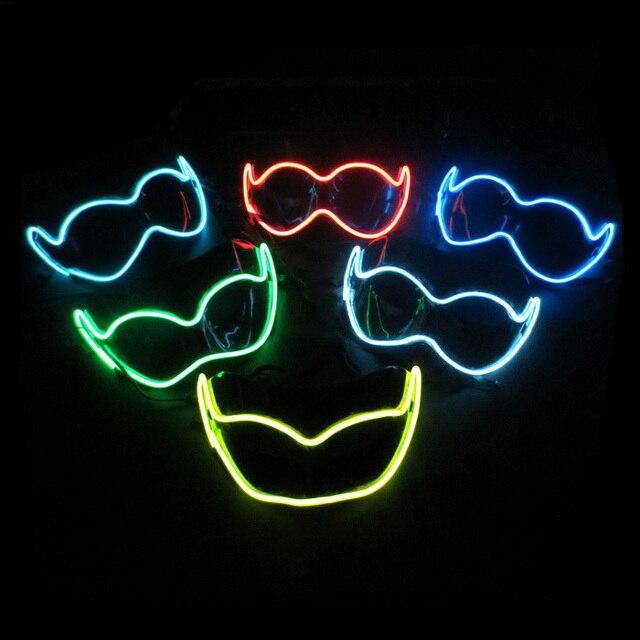 Leuchtende Farbe el leuchtende farbe halbe gesicht pvc glänzende led licht mask