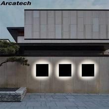 LED Outdoor Waterproof Wall Light Square LED Garden Wall Lamp Aisle Light Exterior Wall Balcony Corridor Aluminum Lighting NR21