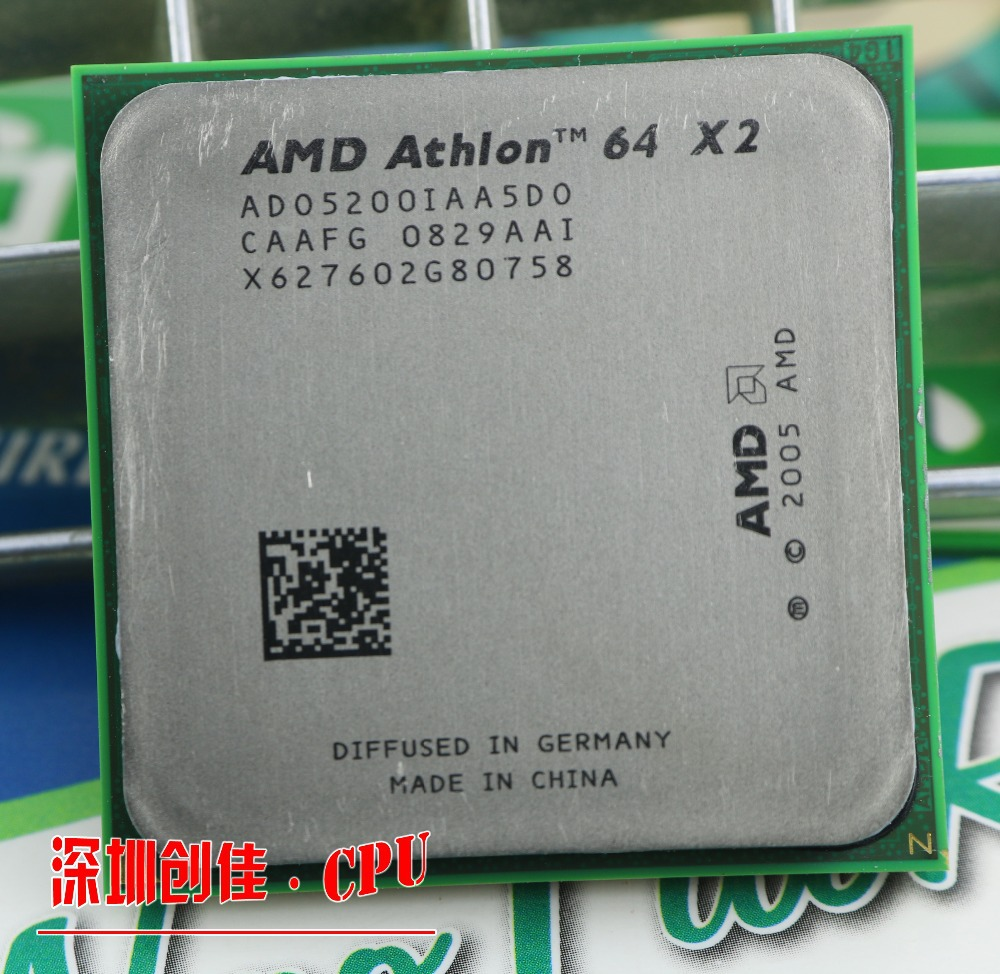 Amd Athlon 64x2 5200 + 2.7 Ghz 1 MB Cache AM2 socket 940 pin Dual core De Bureau CPU processeur scrattered pièces 5000 5400 5600 6000