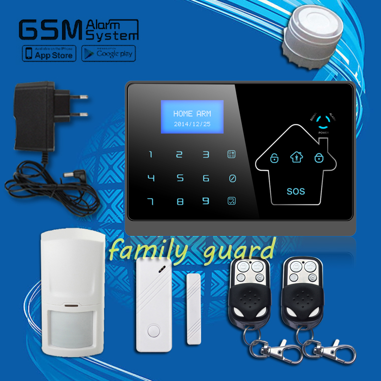 Free Shipping Guard IOS Android APP Remote control Touch Screen Keypad Wireless GSM PSTN Home Security