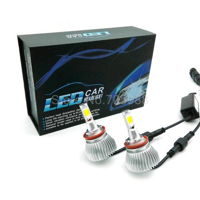 2 * LED 80 W 5600lm Coche Faros H8/H9/H11 Bombilla LED Auto Frente gog luz de Automóviles faro HB3/9005 HB4/9006 hb3 9005 h7