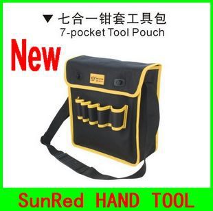 Persevering Oxford Complex Material 7-pocket Pouch Tool/tool Shoulder Bag No.05153 Freeshipping In Short Supply Tool Parts