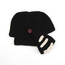 2a85b62bae9c9 Novelty New Roman Knight Helmet Caps Cool Handmade Knit Ski Warm Winter  Hats Men Women s Gift