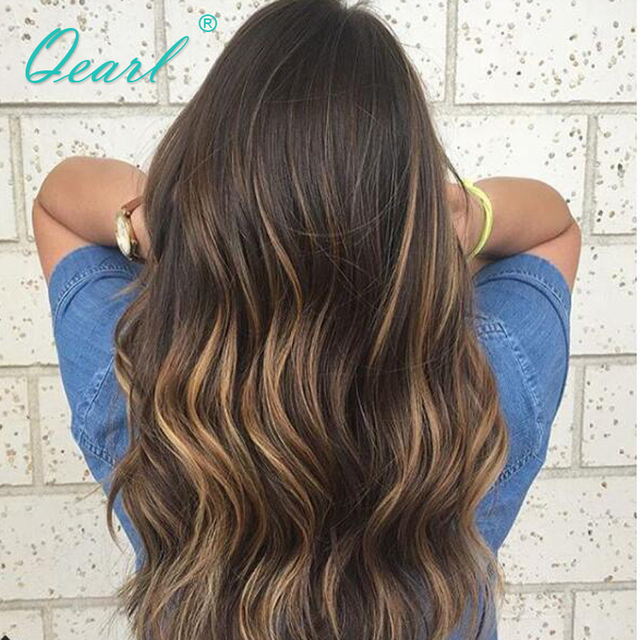 13x4 Brazilian Remy Human Hair Lace Front Wigs Baby Hair Ombre 1b