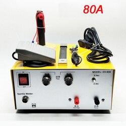 80A 30A soldadura mano pulso soldador por puntos de oro de la máquina de soldadura de joyería de plata herramientas de procesamiento