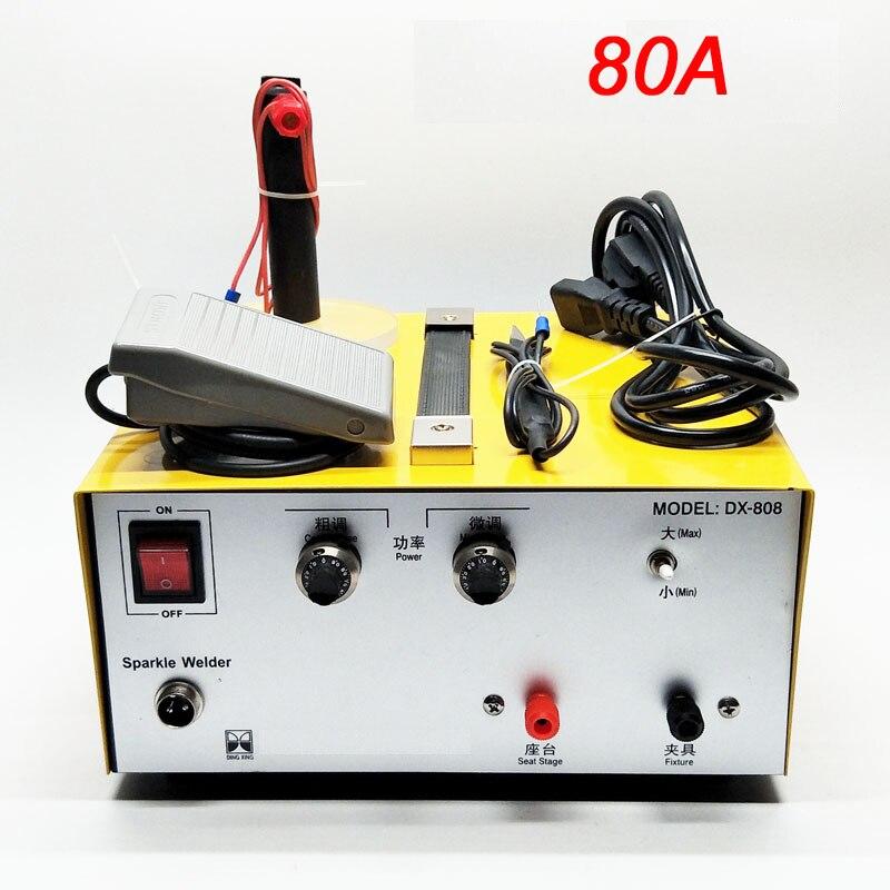 80A 30A spot welding hand held pulse spot welder gold welding machine silver jewelry processing tools